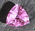 Pink Sapphire, faceted, Madagascar, Lead glass filled.  1.19 carats.